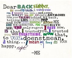 Quotes About Backstabbers And Liars Dear backstabber  haha oh thisQuotes About Backstabbers And Liars