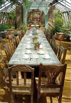 greenhouse lunch! beautiful