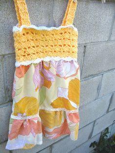 Girls Sun Dress Crochet bodice