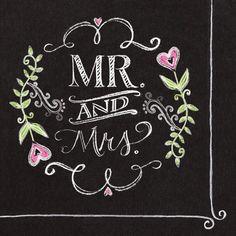 chalkboard wedding cocktail napkins