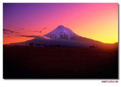 ... Mt. Taranaki Sunset ...