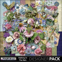 Digital Scrapbooking Kits | Walking In The Rain-(PattyB) | Everyday, Family, Friends, Memories, Seasons, Vintage | MyMemories