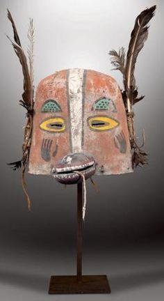 HONÀNKATSINA - Masque heaume honan kachina