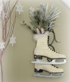 Cute ice skate decoration for winter.