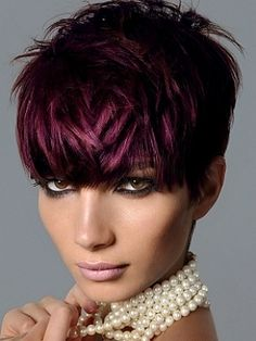 Pink Highlights with dark color cute!