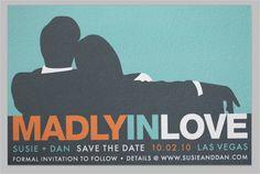 men styles, mad men party, dates, madmen, wedding invitations, david tutera, cards, theme weddings, bridal showers