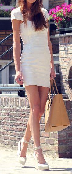 White Bandage dress.