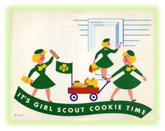 1960s Vintge Girl Scout Cookie Poster