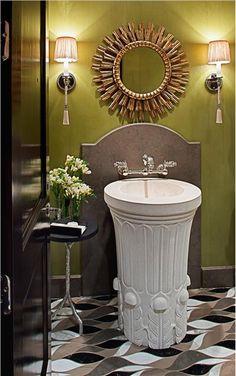 Elegant Contemporary Bathroom by Jamie Herzlinger