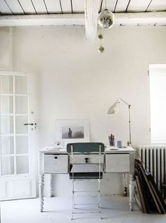 Spare bedroom office