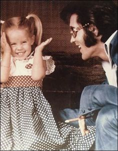 Elvis and his daughter, Lisa Marie