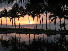 Sunset from Humuhumunukunukuapua'a at the Grand Wailea, Maui