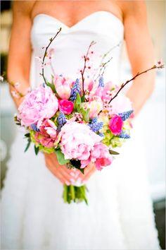 Pink and Blue Pastels #WeddingFlowers #WeddingBouquet