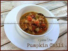 A Busy Mom's Slow Cooker Adventures: Pumpkin Chili - Gluten-Free