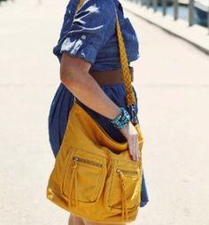 Pretty yellow Lyric Epiphanie bag!