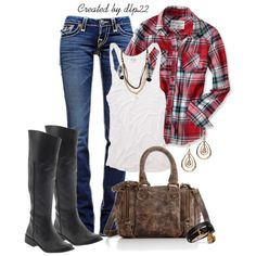 """""""Plaid"""" by dlp22 on Polyvore"""