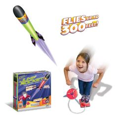Original Geospace Jump Rocket – Launcher and 3 Rocket Set - Jump it up. Thump it up. Way up. How far? How about the height of a 15-story building. Simply slide the safe, foam jump rocket onto its launching pad, jump up and land on the hemisphere-shaped air pump, and watch it blast off,