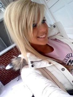 When my hair gets longer, I will probably cut my bangs too resemble this.