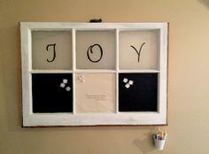 window crafts, window decorating, decorating ideas, old windows, chalkboard idea