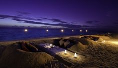 Jumeirah Dhevanafushi Resort - Sunken Dug Beach Private Dining, Honeymoon destinations