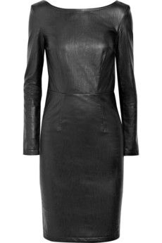 Want the leather look but not pay a leather price then this faux leather dress can be a good option!
