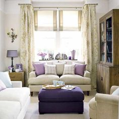 interior design, color schemes, small living rooms, curtain rods, bay windows, sitting rooms, window treatments, roman shades, live room