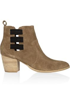 Georgie suede ankle boots by 12th Street by Cynthia Vincent