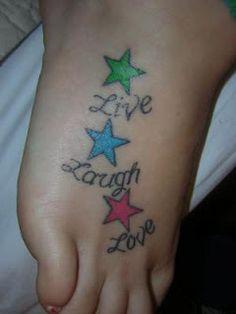 Star Tattoo Designs: Foot Tattoo Designs For Girls ~ Tattoo Design Inspiration