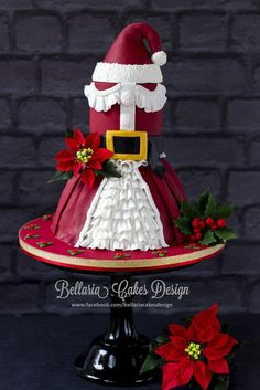 Miss Claus - by Bellaria @ CakesDecor.com - cake decorating website