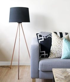 DIY this tripod-style lamp with this tutorial.