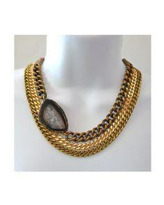 Multi Chain Agate Necklace - JewelMint