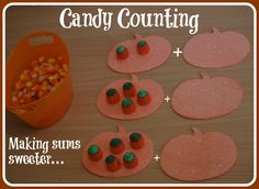 4 year old learning activities, classroom, count, fall, candies, halloween candi, fun, educ, kid