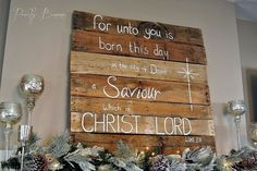 Christmas Mantle Pallet Sign