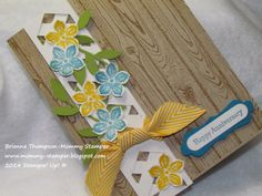 Mommy Stamper : Lovely Lattice created by the Chevron punch.   Video tutorial in post.