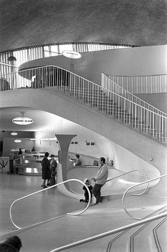 TWA Terminal at JFK, 1969; photograph by Nick DeWolf Photo Archive, via Flickr