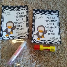 Chapstick and candy kisses gift idea