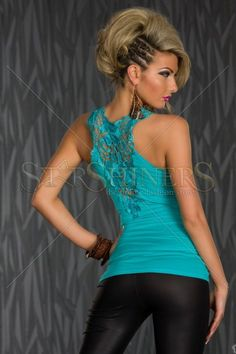 Top Lovely Beyond Turquoise