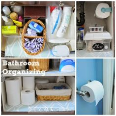 Bathroom organizing {click through for a great coupon, too} :: OrganizingMadeFun.com