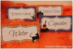 Halloween food tent labels #Halloween #Party