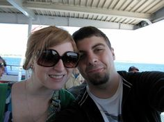 Jared and I on the ferry to Mackinac Island from St. Ignace. Our last vacation before Jared proposed! #puremichigan
