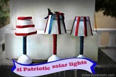 $1 patriotic solar lights