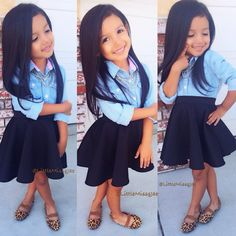 If I ever had a daughther she gonna be dressed something like this style so cute<33333