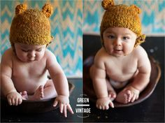 natural light studio, 9 month baby pictures | Green Vintage Photography
