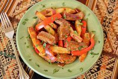 Lomo Saltado – Peruvian Beef and Potato Stir-Fry (if I can even come close to El Serrano's this will be fantastic!)