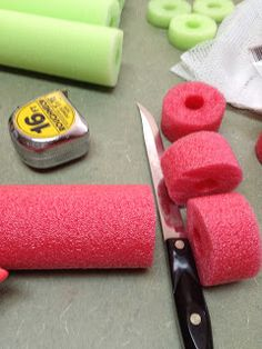 First Grade Spies blog. Making tens and ones blocks out of pool noodles. cute idea.