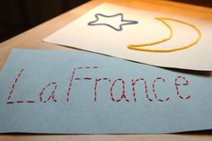 French Crafts for kids   French Embroidery Craft   Multicultural Crafts for Kids
