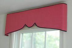 cornice boards, kitchen windows, window treatments, window coverings, bedroom