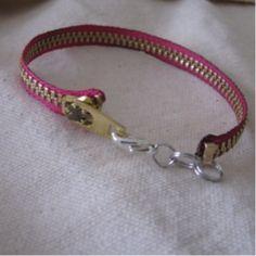 Cute zipper bracelet #DIY #jewelry