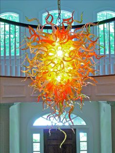Blown Glass Chandeliers by Seth Parks