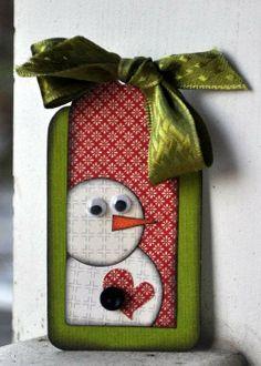 Love this snowman tag!